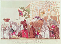 Clergy Leaving the Church after the Sale of Church Property von French School