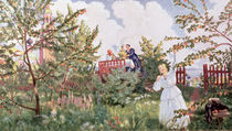The Orchard, 1918 by Boris Mikhailovich Kustodiev