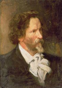 Portrait of Ilja Repin , 1902 von Boris Mikhailovich Kustodiev