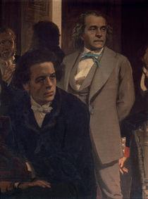 Anton Grigoryevich Rubinstein and Alexander Nikolayevich Serov von Ilya Efimovich Repin