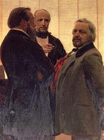 Vladimir Odoevsky , Mily Balakirev and Mikhail Ivanovich Glinka von Ilya Efimovich Repin