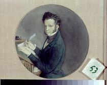 Alexander Pushkin at Work, 1899 von Konstantin Andreevic Somov
