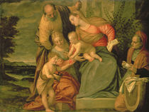 The Holy Family with St. Elizabeth and John the Baptist von Veronese