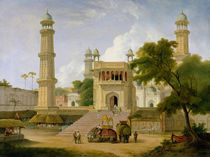 Indian Temple, said to be the Mosque of Abo-ul-Nabi von Thomas Daniell