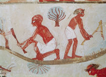 Labourer and Lumberjack at Work by Egyptian 18th Dynasty