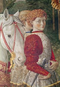 Two Liveried Attendants and the head of Lorenzo the Magnificent's Horse by Benozzo di Lese di Sandro Gozzoli