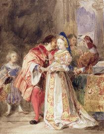 Portia and Bassanio, c.1826 by Richard Parkes Bonington