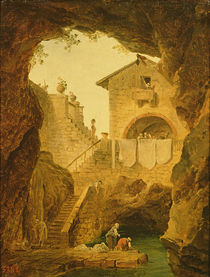 The Fountain under the Grotto von Hubert Robert
