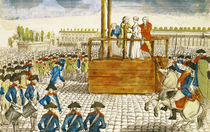 Execution of Marie-Antoinette in the Place de la Revolution by French School