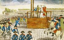 Execution of Marie-Antoinette in the Place de la Revolution von French School
