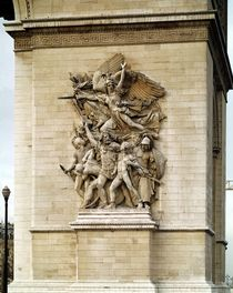 La Marseillaise, detail from the eastern face of the Arc de Triomphe von Francois Rude