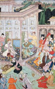 Meeting between Babur and Bedi Az Zaman Mirza by Indian School