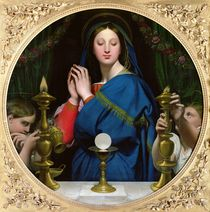 The Virgin of the Host, 1854 von Jean Auguste Dominique Ingres