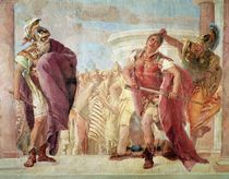 Minerva Preventing Achilles from Killing Agamemnon von Giovanni Battista Tiepolo