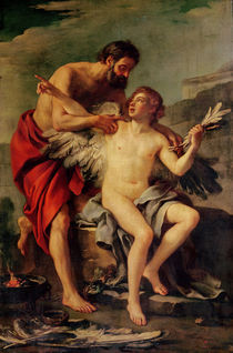 Daedalus Attaching Icarus' Wings von Joseph-Marie, the Elder Vien