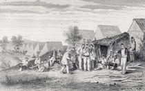 Deportee Camp on the Cros Peninsula by Hippolyte Dutheil