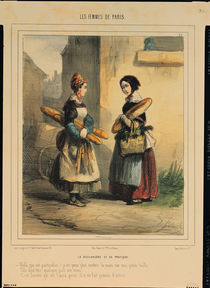 The Baker's Art, plate number 27 from the 'Les Femmes de Paris' series by Alfred Andre Geniole