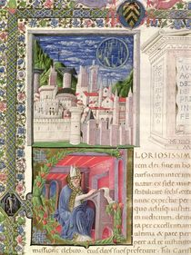 Ms 218 f.2r View of Rome as the City of God by Italian School
