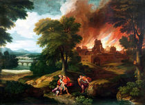 The Burning of Troy by Nicolas Poussin
