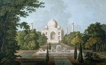 The Taj Mahal, Agra, from the Garden by Thomas & William Daniell