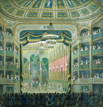 View of the Stage of the Paris Opera by French School