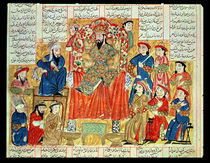 A Sultan and his Court, illustration from the 'Shahnama' von Persian School