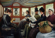 On the Omnibus, 1880 by Maurice Delondre