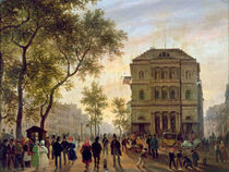 Boulevard Saint-Martin and the Theatre de l'Ambigu by Giuseppe Canella