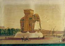 View of the Elephant Fountain at the Place de la Bastille by Jean Antoine Alavoine
