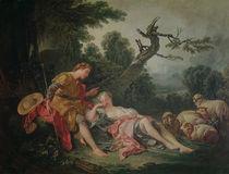 The Sleeping Shepherdess von Francois Boucher