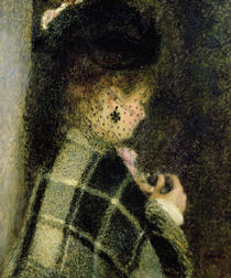Young Woman with a Small Veil von Pierre-Auguste Renoir
