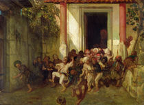 Leaving the Turkish School by Alexandre Gabriel Decamps