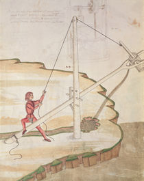 Diagram of a method of supplying water by Mariano di Jacopo