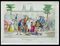 Louis XVI and his family taken to the Temple by French School