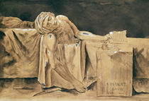 The Death of Marat, 1793 by Jacques Louis David