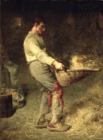 A Winnower, 1866-68 von Jean-Francois Millet