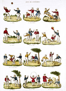 Children's Games, 1810 von French School