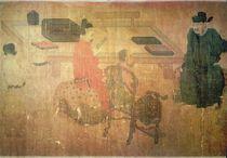 Three Well-Read Men from Lieou-Li T'ang in Conversation von Zhou Wenju