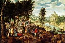 The Sermon of St. John the Baptist by Flemish School