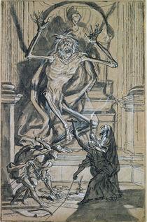 Four Grave Robbers awaken a Ghost von Joseph Werner