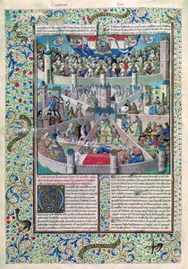 Ms 246 fol.3v Vices and Virtues on Earth by French School