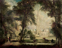 Salisbury Cathedral from the Bishop's Grounds von John Constable