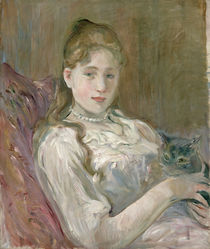 Young Girl with Cat, 1892 von Berthe Morisot