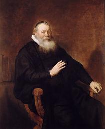 Portrait of Pastor Eleazer Swalmius by Rembrandt Harmenszoon van Rijn