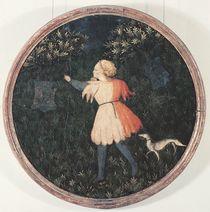 Young falconer, Florentine School von Master of the Judgement of Paris