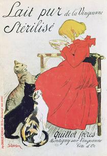 Poster advertising 'Pure Sterilised Milk from La Vingeanne' by Theophile Alexandre Steinlen