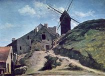 A Windmill at Montmartre, 1840-45 von Jean Baptiste Camille Corot