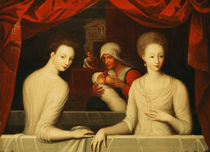 Gabrielle d'Estrees and her sister by Fontainebleau School