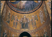 Madonna and Child Enthroned with Angels and Apostles von Byzantine School