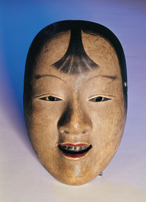 Noh theatre mask of a young boy called Kasshiki von Japanese School